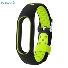 Ouhaobin New Fashion WaterProof Lightweight Ventilate TPE Wrist Strap Wristband Bracelet For Xiaomi Mi Band 2 Staps Oct3