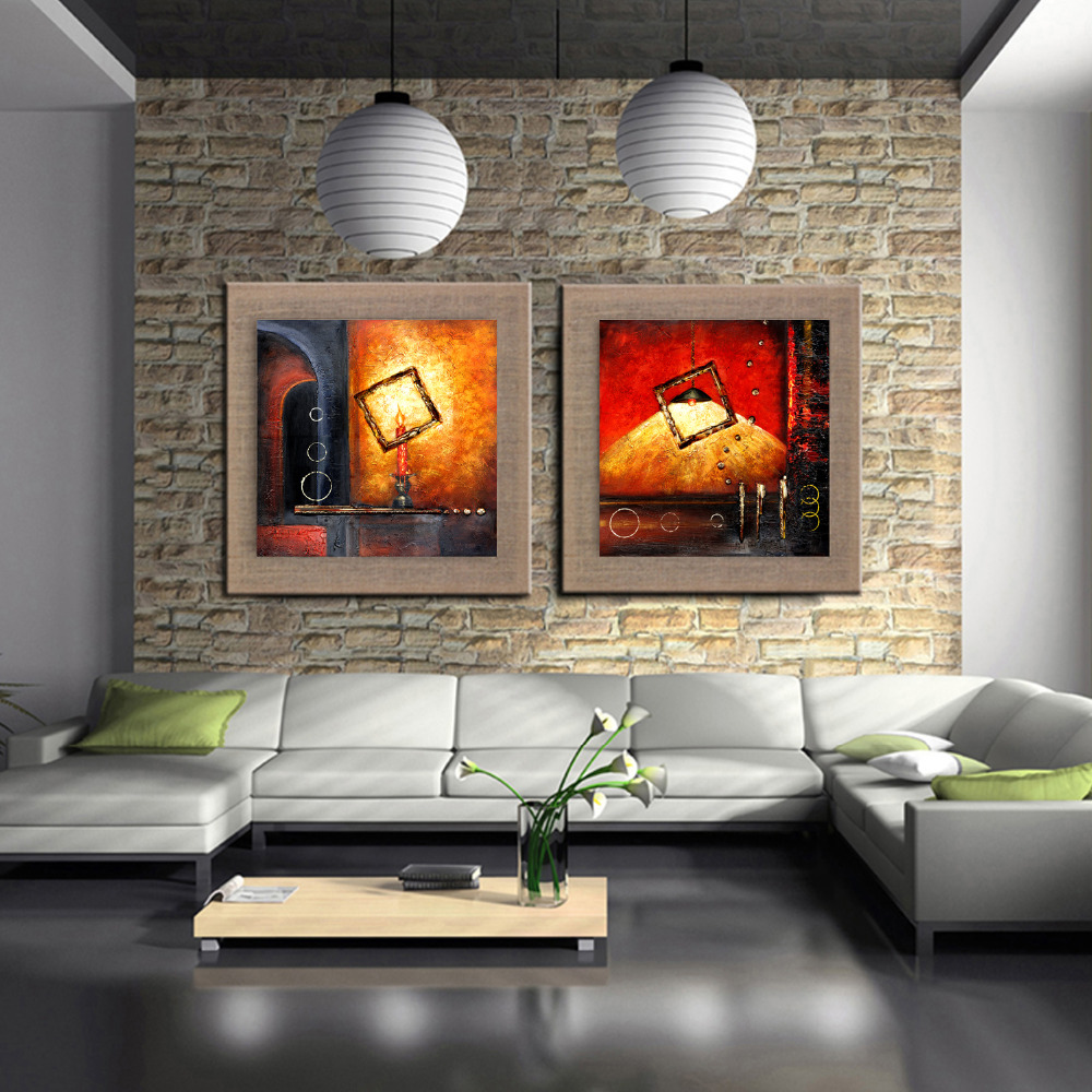 A Cosy Corner Candles Lights Oil Painting On The Wall
