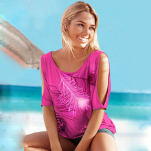 Slit Sleeve Women Casual Summer T-Shirt