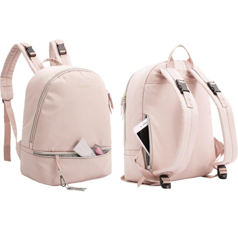 Mommore pequeño moda pañal mochila impermeable viaje bolsa de pañales con cambiador Pad bolsa de enfermería para el cuidado del bebé - 3