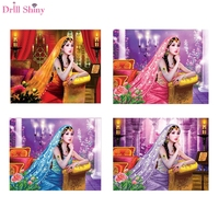 Drill Shiny Special Shaped Diamond Painting DIY 5D Embroidery Cross Stitch Different Size Diamonds Picture Girl