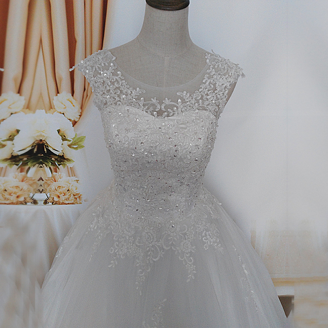 ZJ9128 2019 2020 new style fashion White Ivory Wedding Dresses for brides plus size maxi formal sweetheart with lace edge 5