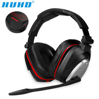 HUHD USB 7.1 Stereo Wireless gaming headphones game headset over ear Voice control for laptop computer gamer Nintendo SWITCH PS4