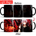 Кружка Tokyo Ghoul  Термочувствительная кофейная кружка  меняющая цвет  чашка  молочная чашка  кружки  лучший подарок для ваших друзей
