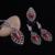 Novo Design de Jóias Antigas Banhado A Prata Do Vintage de Resina Vermelha E Preto Rhinestone Gota de Água Conjunto de Jóias de Moda Para A Mãe Presente