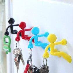 WSOMIGO 1PCS Wall Climbing Villain Magnet Key Hook Kitchen Accessories Kitchen Powerful Hook Suction Cup Gadget Kitchen Tools-S