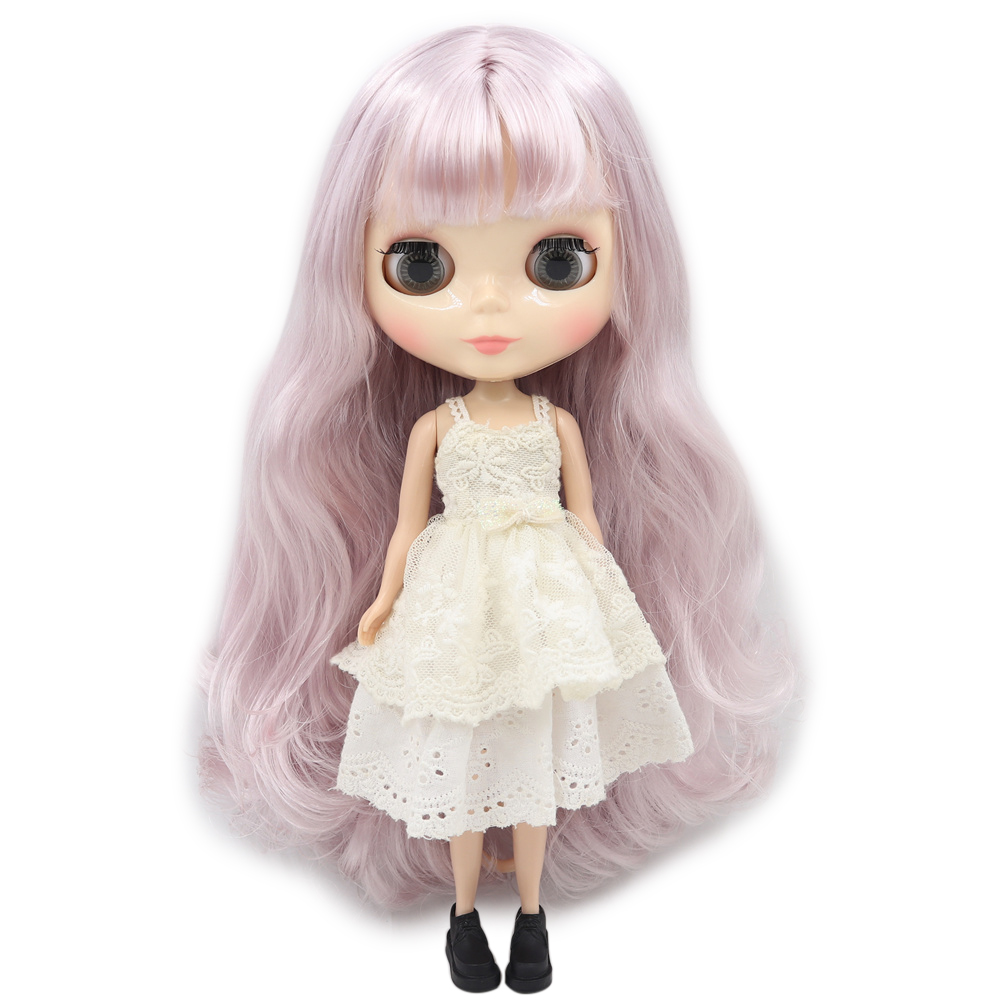 氷ヌード工場ブライス人形シリーズ番号 BL7262 薄紫髪と前髪白顔ノーマルボディ 1/6bjd  グループ上の おもちゃ & ホビー からの 人形 の中 1