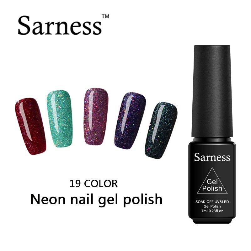 Why Does Neon Nail Polish Chip: Sarness Enamel Glitter Color Neon Gel Nail Polish