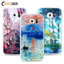 CASEIER Phone Case For iPhone 7 6 6s Plus 5 SE Soft TPU Ultra-thin Monet Print Cover Samsung S6 S7 Edge Silicone Shell
