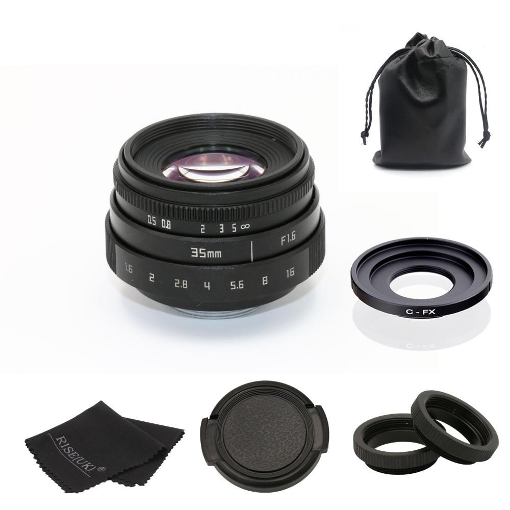 Fuji un 35mm f1.6 C montaggio telecamera A CIRCUITO CHIUSO Lens II + C mount anello adattatore + Macro per fuji fuji pellicola X-Pro1 (C-FX) trasporto libero