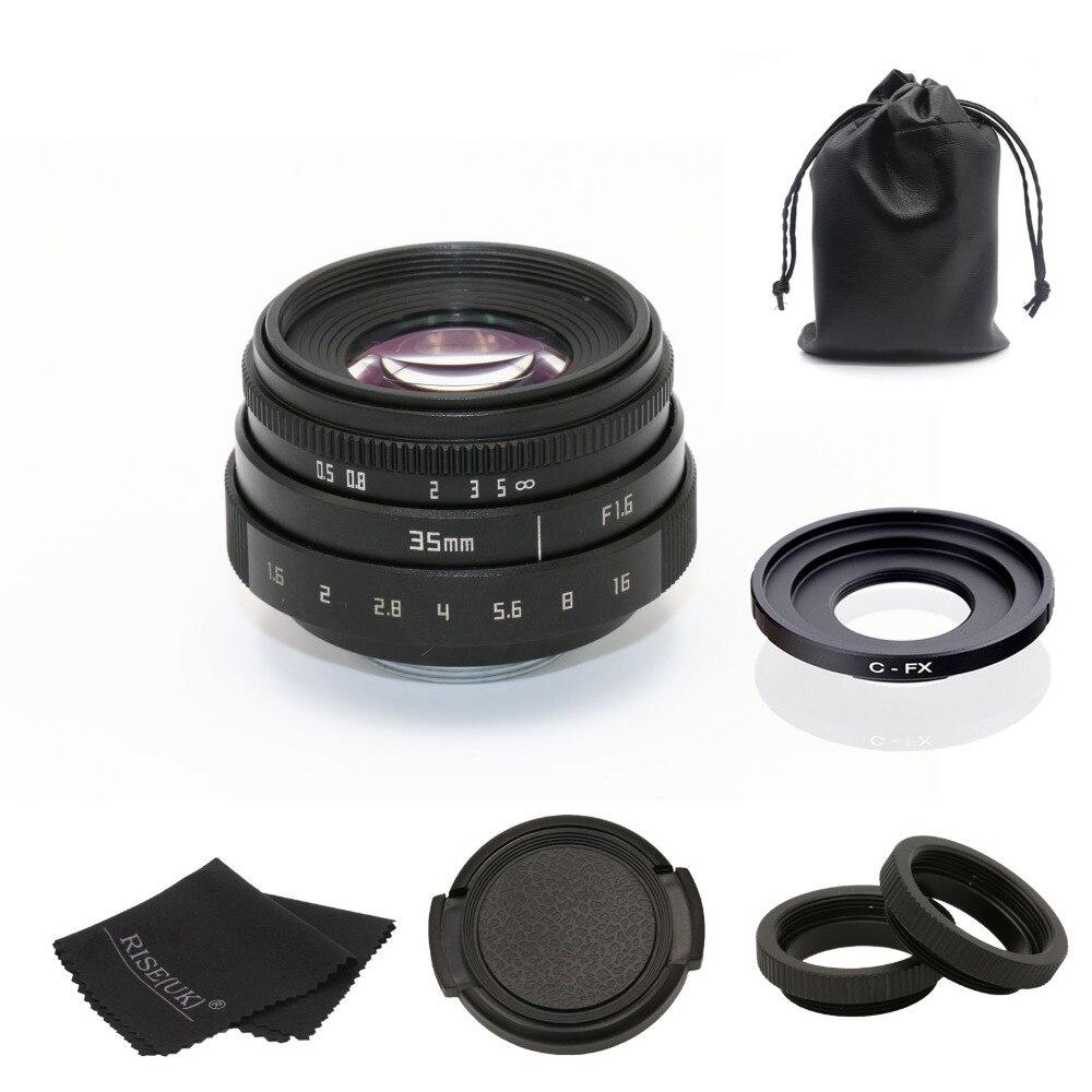 Fuji un 35mm f1.6 monture C caméra CCTV Objectif II + C mount adapter anneau + Macro pour fuji fuji film X-Pro1 (C-FX) livraison gratuite
