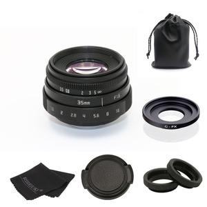 fujian 35mm f1.6 C mount camera CCTV Lens II +C mount adapter ring+Macro for Fuji Fujifilm X-Pro1 (C-FX)(China)