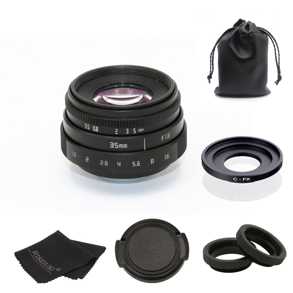 fujian 35mm f1.6 C mount camera CCTV Lens II +C mount adapter ring+Macro for Fuji Fujifilm X-Pro1 (C-FX) free shipping 35mm lens c mount f 1 7 lens cctv lens features alloy casing free shipping