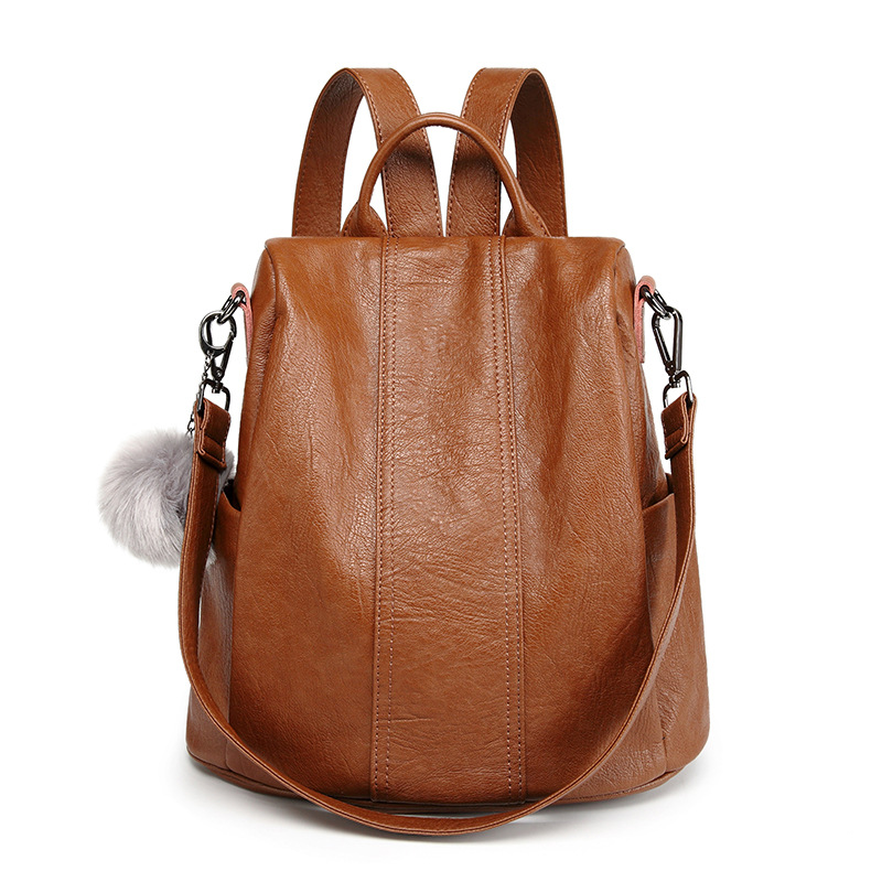 Fashion Women Backpack Genuine Leather Shoulder Bags Zipper