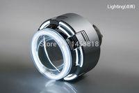 Круговой 12C 35 Вт Xenon H7 H4 H11 9007 H1 9006 9005 тонкий балласт белого и синего цвета желтый красный двухместный CCFL Угол Глаза 3 дюйма HID проектор