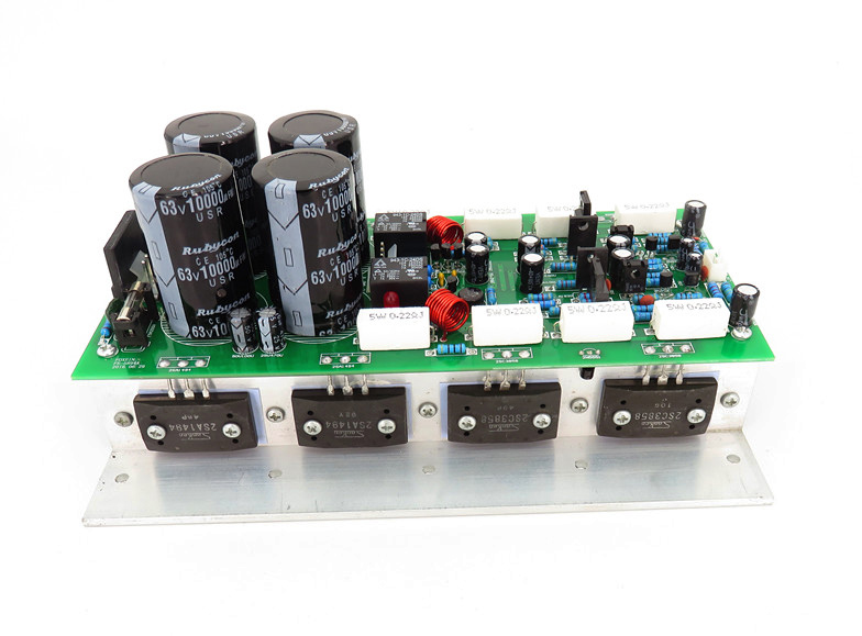 500W 2.0 dual channel high fidelity Sanken tube audio 3CS3858 2SA1494 rear high power amplifier board