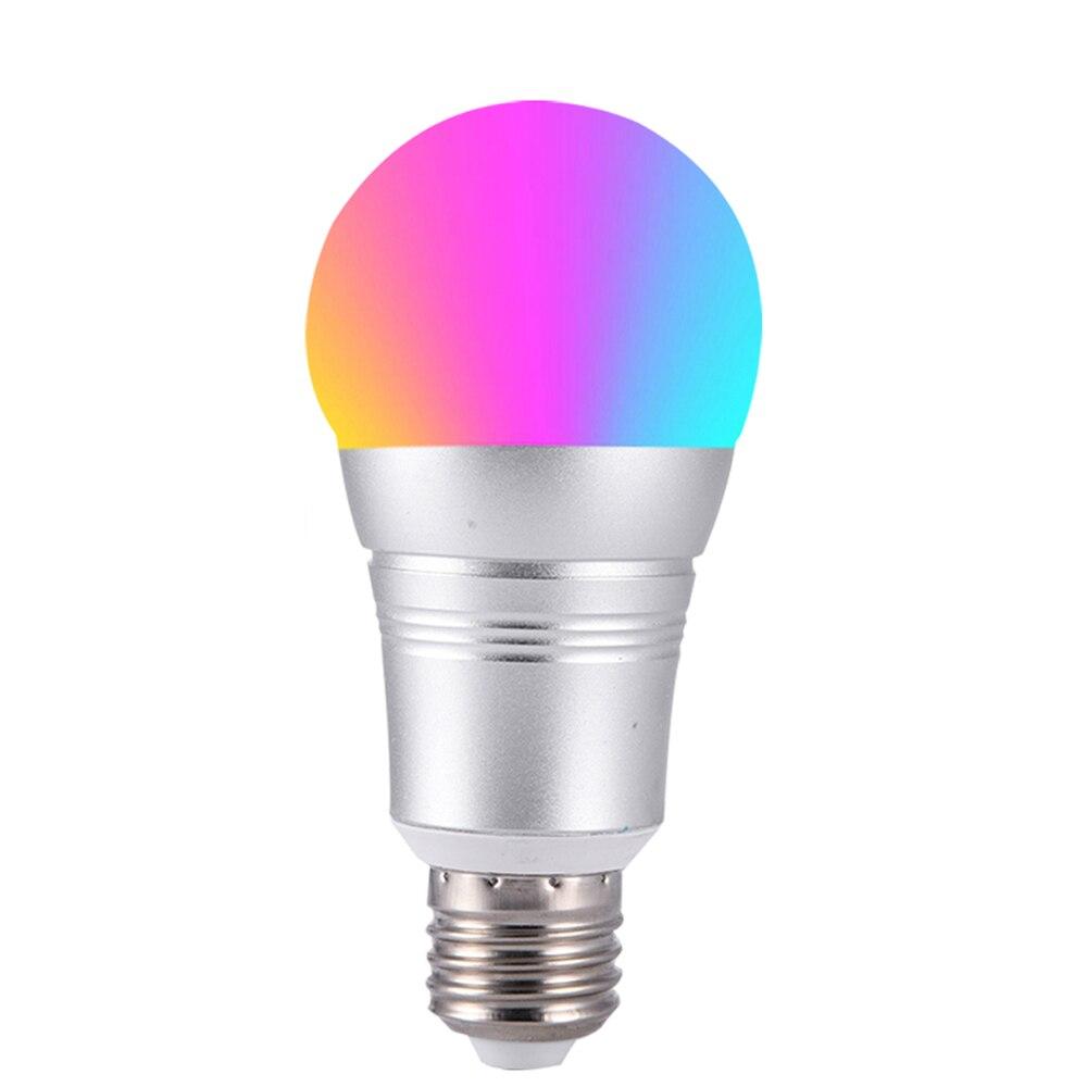 Fcmila 7W Wireless WiFi Smart LED Bulb E27 E26 B22 E14 RGBW LED Bulb Light Support Alexa Google Home Voice Control RGBW LED Lamp