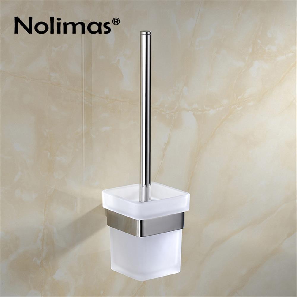 цена SUS 304 Stainless Steel Toilet Brush Holder Mirror Effect Bathroom Toilet Brush Cup Holder Rack Bathroom Brush Shelf