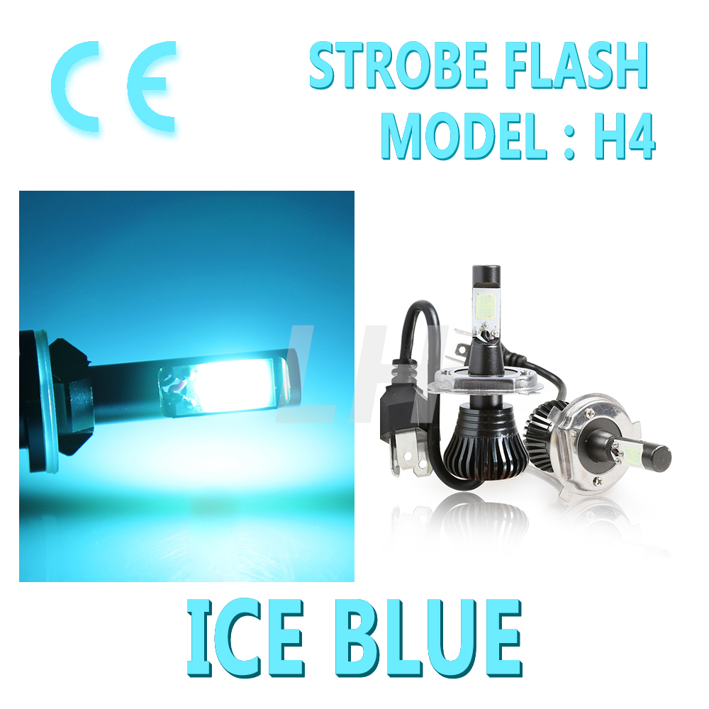 All In One Led H4 Hb2 9003 High  Low Beams Fog Bulbs Stay On And Flash Fog Light Ice Blue 12v 24v