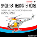 Free shipping 3d DIY metal assembled a static model plane educational toys One-man helicopter 816 b - 26
