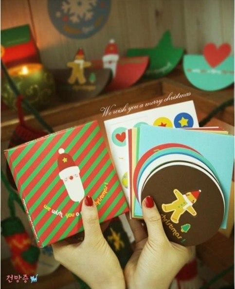Hot selling casual style cute promotion  kawaii novelty.cute cartoon christmas card.series B