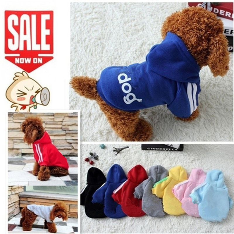 2019 New Autumn Winter Pet Products Dog Clothes Pets Coats Soft Cotton Dog Hoodies Clothing For Puppy Dogs 7 Colors XS-2XL PD212