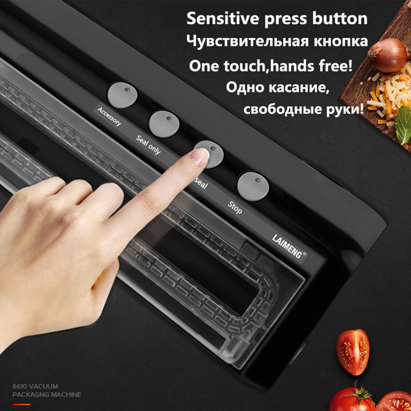 Vacuum Air Sealing System For Food Preservation Including Free Sealing Bags Food Vacuum Sealer Food Sealer household vacuum packaging sealing machine sealer wet and dry use 30cm 110w 220v
