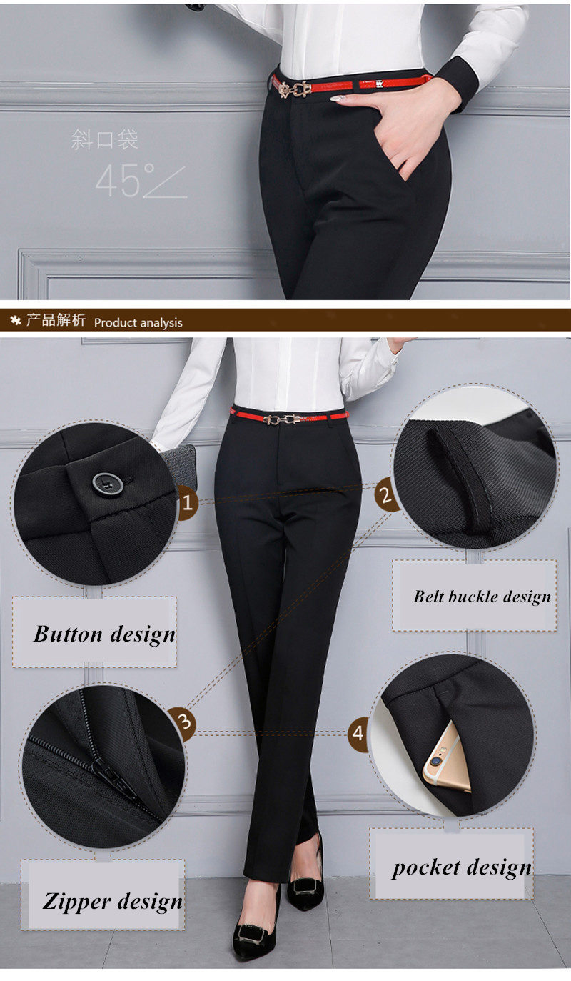 HTB1aFcNSFXXXXXdaXXXq6xXFXXXj - Naviu new Fashion high quality women trousers Plus Size Formal office Pants for Office Lady Style Straight bottom