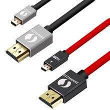 Annwzzd микро HDMI(тип D) к HDMI(тип A) позолоченный(высокая скорость) микро HDMI кабель 1.4a 2,0 Реального 3D и Ethernet