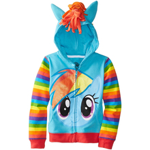 1PCS New 2015 Girls little pony Kids Jacket Children's Coat Cute Girls Coat &Hoodies & Girls Jacket Children Clothing Cartoon