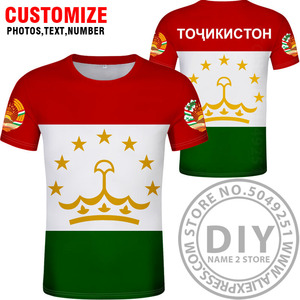 Image 2 - TAJIKISTAN t shirt diy free custom made name number tjk T Shirt nation flag tj tajik country college photo print text 0 clothing