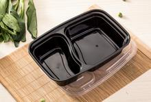 32 Oz. 2 Compartment Meal Prep Containers Durable BPA Free Plastic Food Storage Container Microwave & Dishwasher Safe