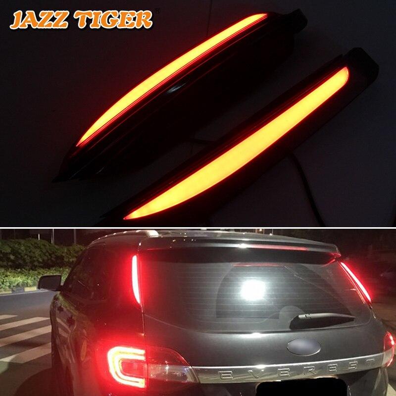 JAZZ TIGER Multi functions Car LED Rear Fog Lamp Brake Light Pillar Light Auto Bulb Decoration