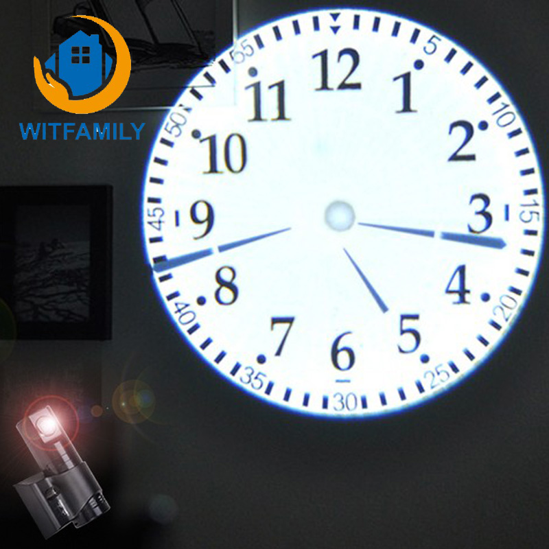 360 Degree Rotation Low Temperature Cold Light Source Power Saving Remote Led Projection Classical Dial Clock