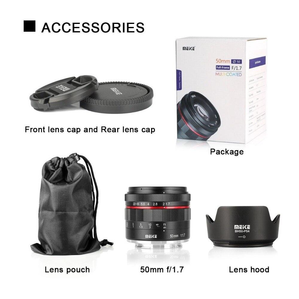 Meike 50mm f/1.7 objectif de mise au point manuelle à grande ouverture pour Canon EOS R mount/pour Nikon Z Mount Z6 Z7 appareils photo sans miroir + cadre complet - 6