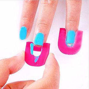 Image 3 - 26 Pcs Reusable Nails Edge Skin Barrier Nail Polish Stencils Kit Manicure Nail Art Polish Tip Protectors Nail Care Beauty Tool
