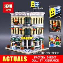 LEPIN 15005 2182 pcs Ville Créateur Grand Emporium Modèle Kits de Construction d'action Brique Jouet Compatible 10211