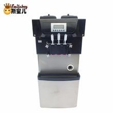 цена на 2018 Soft Ice Cream Machine Maker Kitchen Appliances Stainless Steel Hotel Commercial Machine Freezer for Ice Cream Summer Hot