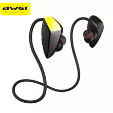 AWEI A887BL Bluetooth Earphone CSR Waterproof Wireless Stereo HiFi with Microphone Noise Cancelling For Phone