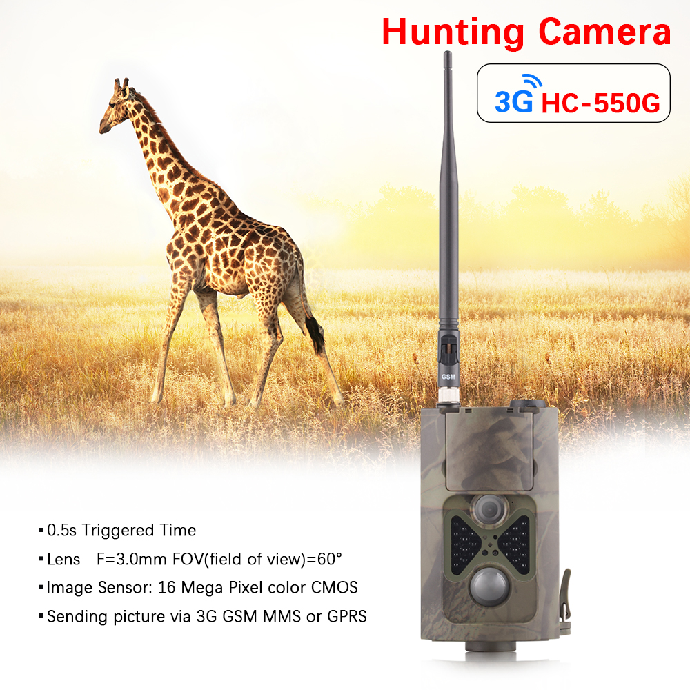 1080P Photo Traps Scouting Hunting Camera Traps GPRS 16MP Photo Trap Outdoor Hunting Camera 3g HC550G Wild Hunting Camera Traps набор буров по бетону зубр эксперт 29314 h3 2