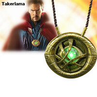 CATTOYS 1 1 Dr Doctor Strange Eye Of Agamotto Amulet Pendant Necklace LED Light
