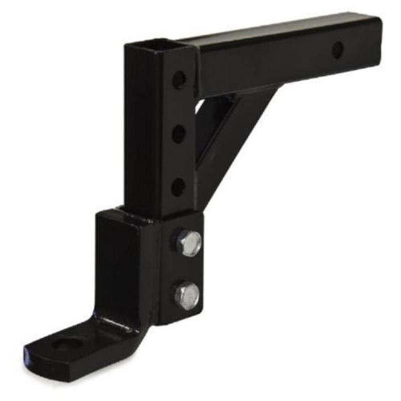 10-inch Adjustable 8 Positions Ball Mount Hitch with Screws (Black)