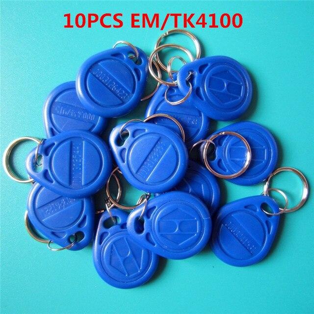 10 Cái/lốc RFID 125Khz EM4100 TK4100 Chìa Khóa Fobs Đột Quyết Các Thẻ Keyfobs Móc Khóa Chứng Minh Thư Chỉ Đọc Điều Khiển Truy Cập RFID thẻ