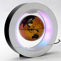 4 Inch Illuminated Magnetic Levitation Floating Globe Map LED Light Geography Teaching Resources Home School Office Decoration