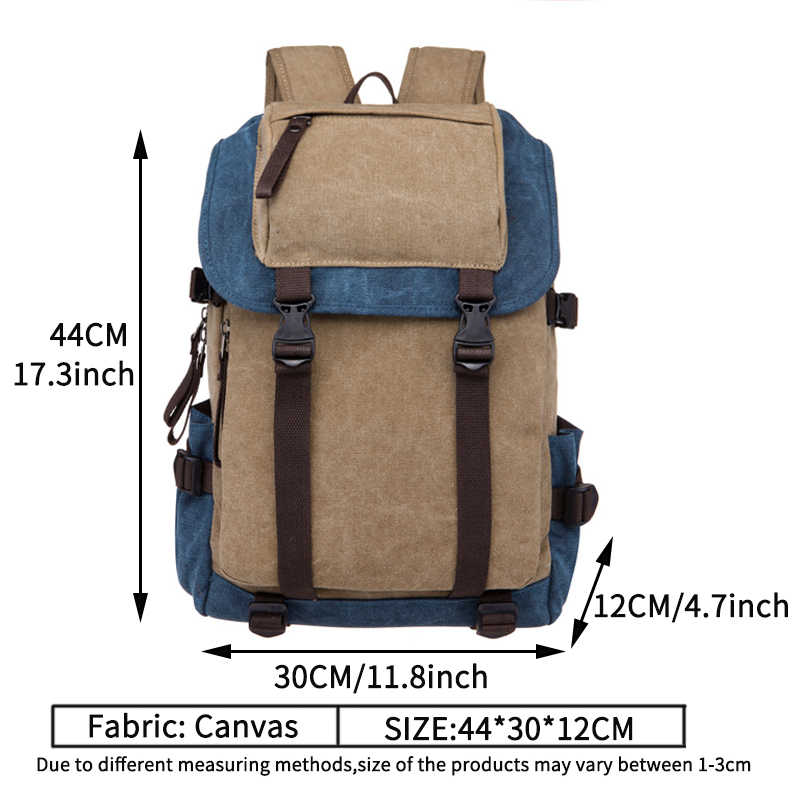 8fe2d711048 ... England Style Travel Canvas Backpack Male 2018 Vintage Canvas Backpacks  for Men School Bags Luggage Man ...