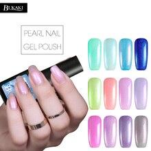 BUKAKI UV Gel Polish Pearl Shiny Sea Shell Colorful Nail Gel Varnish Soak Off Nail Art Nail Gel Lacquer
