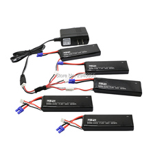 7.4V 3000mAh 10C Hubsan H501S lipo battery 5PCS + UL charger Hubsan H501C rc Quadcopter Airplane drone Spar