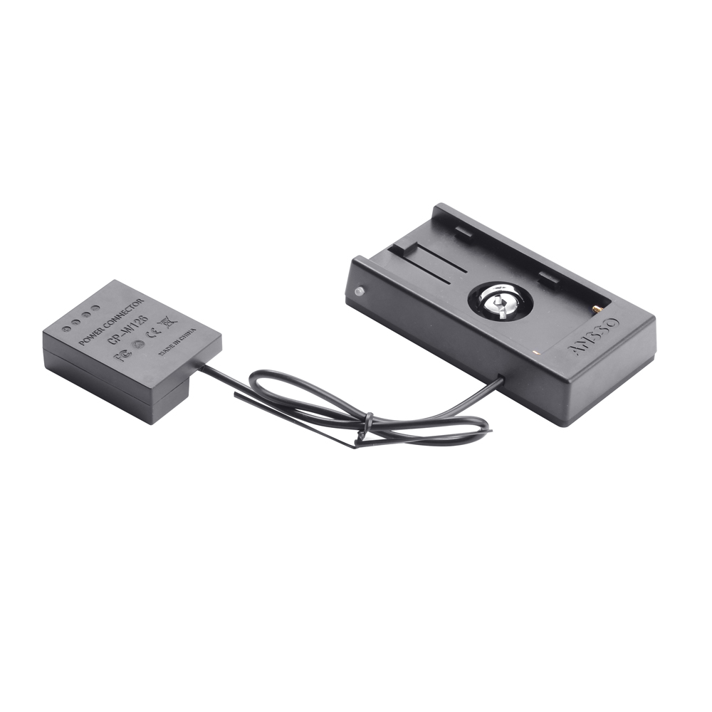New Battery Mount Plate Power Supply Adapter NP-F970 To W126 For Fuji Fujifilm X-T1 X-T2 X-E1 Camera