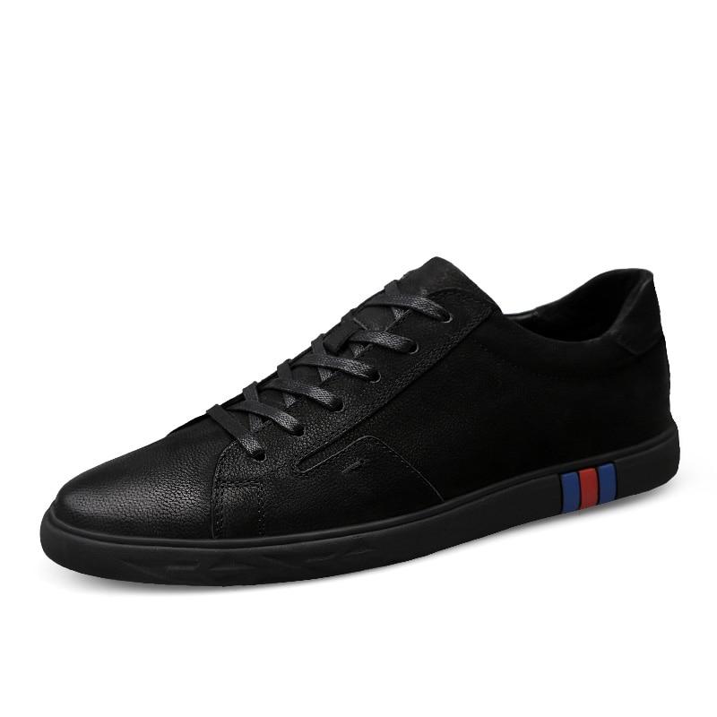 white Homme Véritable Automne Clax Black En Doux Mode Marche black Chaussures Cuir Hommes 2 Casual Sneakers D'été De Blanc Chaussure tsxhrCQd