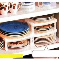 1pcs Mutifunctional Overlapping Bowl Plate Storage Shelf Rack